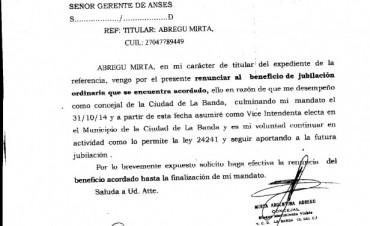 La Vice Intendente Mirta Abregu, aclara su situación laboral ante denuncias malintencionadas de la oposición.