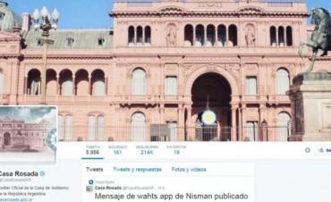 El Gobierno defendió el uso de la cuenta de Twitter de la Casa Rosada