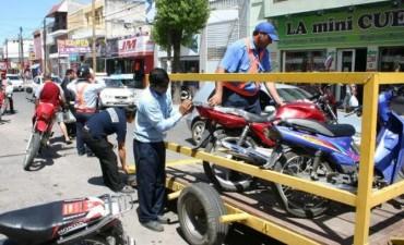 Decenas de motos fueron secuestradas por Tránsito Municipal en la primera semana del año