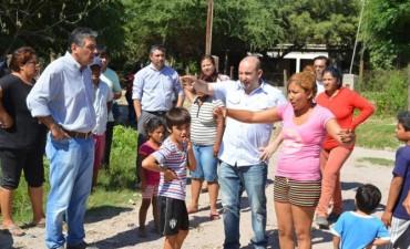 El intendente Mirolo supervisó trabajos en El Tuscal y Villa Margarita