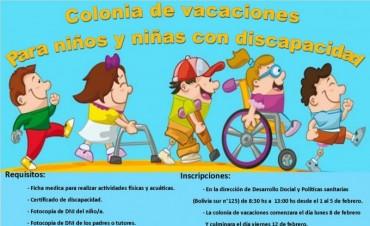 Se abrió la primera Colonia de Vacaciones municipal para Niños con Discapacidad en la provincia