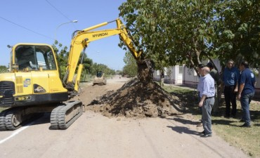 Se puso en marcha la ampliación de la red cloacal que beneficiará a los barrios de la zona norte de La Banda