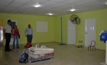 Pablo Mirolo recorrió los jardines de  infantes donde se ejecutan ampliaciones y mejoras