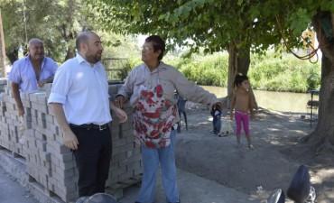 El intendente Mirolo supervisó en avance de la red cloacal en el barrio Sarmiento