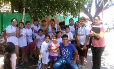 Niños del barrio Bajo de Vertiz participaron de la colonia de vacaciones municipal