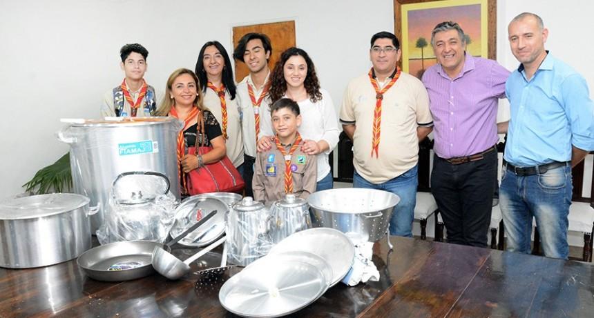 """El municipio realizó importante donación al grupo de Boy Scout """"Tomas Liberti"""""""