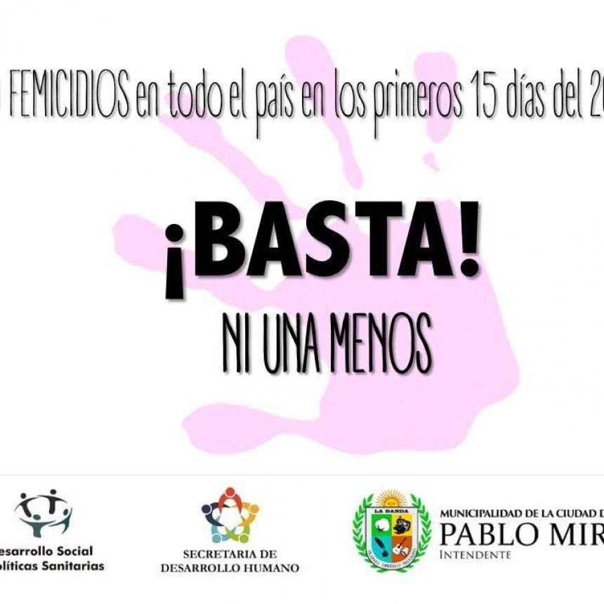 El municipio manifestó su repudió ante las alarmantes cifras de femicidios a nivel nacional