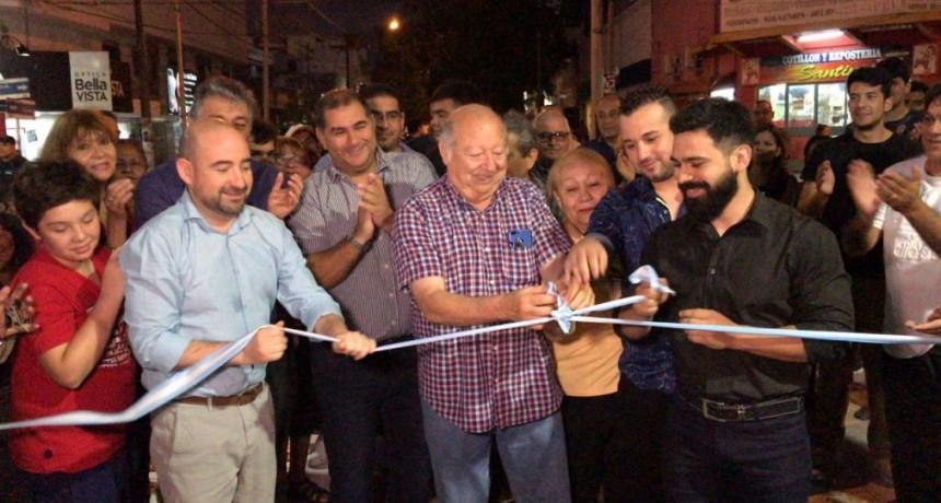 Mirolo inauguró una nueva etapa de la semipeatonalización del microcentro bandeño