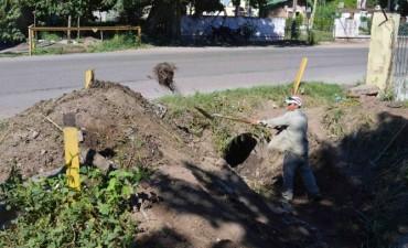 El municipio destrabó un conflicto por la obstrucción de un desagüe pluvial