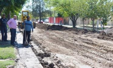 Pavimentan uno de los accesos al barrio 25 de Mayo Ampliación