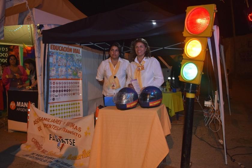 La comuna realizó una intensa campaña de concientización vial durante el festival