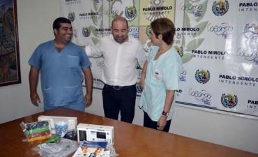El Camm del San Fernando suma servicios con un dispositivo para realizar electrocardiogramas