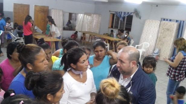 La Comuna asistió a más de un centenar de familias afectadas por el temporal