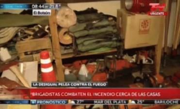 Chubut: los brigadistas denuncian que no tienen instrumental para combatir el fuego