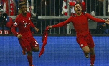 El Bayern Münich dio vuelta el resultado en el alargue, le ganó a la Juventus y pasó a cuartos