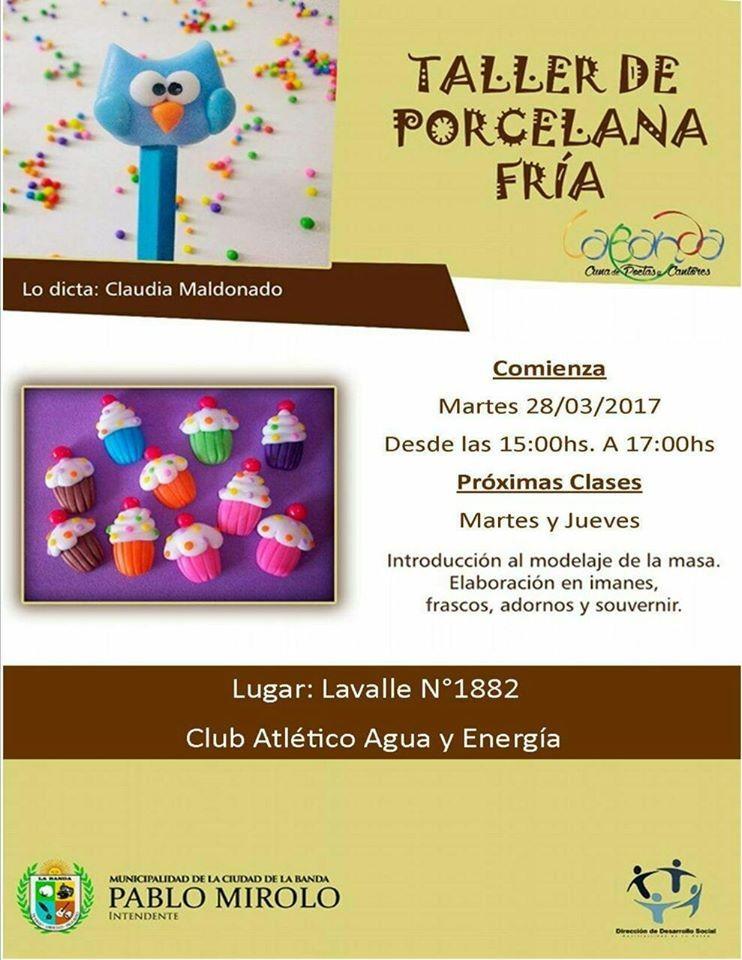 Invitan a un taller de porcelana fría en el Club Atlético Agua y Energía