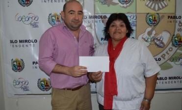 El municipio continúa ayudando a instituciones