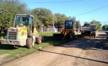 Se efectuó importante operativo de limpieza en el barrio Central Argentino