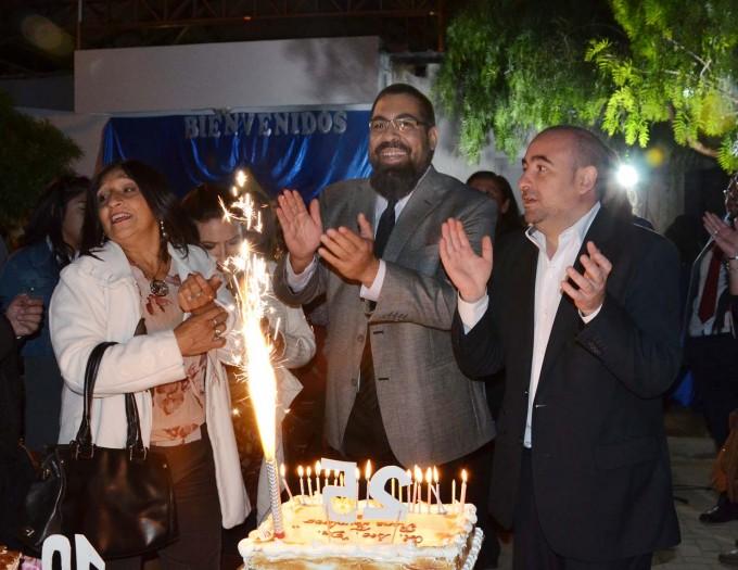 """Mirolo participó de las Bodas de Plata del Colegio """"René Favaloro"""" con la inauguración de obras de pavimentación"""