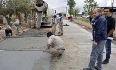 El municipio inició la pavimentación de calles del barrio Gorrini