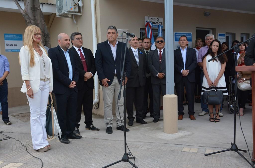 Mirolo inauguró el Centro de Emisión de Licencia Nacional de Conducir