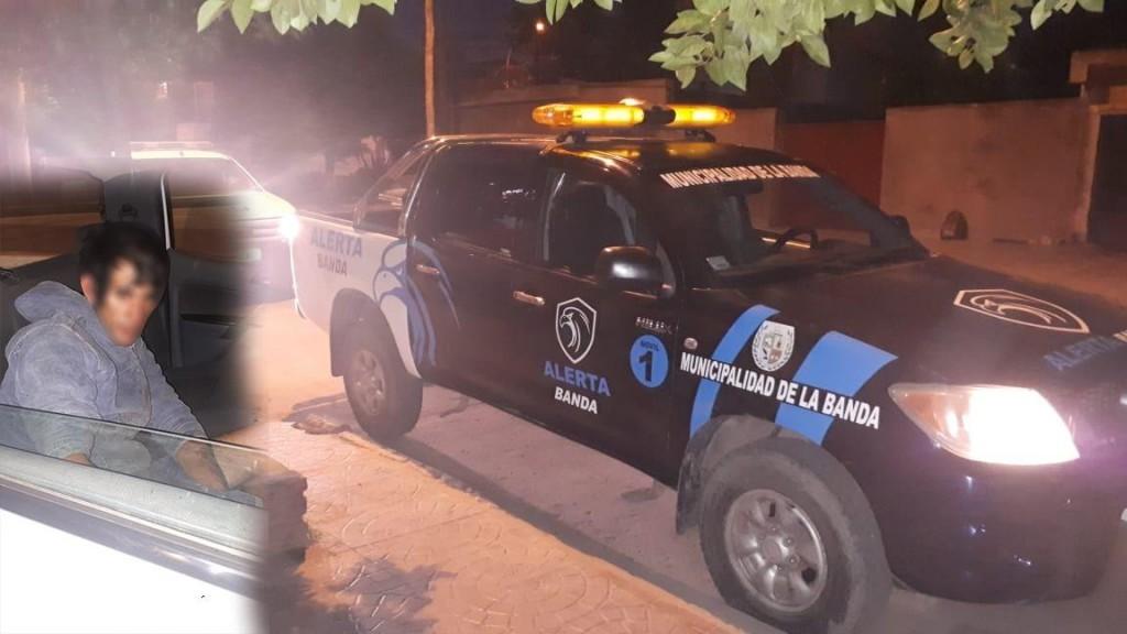 Alerta Banda retuvo a un sujeto que intentó asaltar una parrillada bandeña