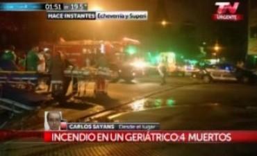 Tragedia en Belgrano: cuatro abuelos muertos durante incendio en un geriátrico