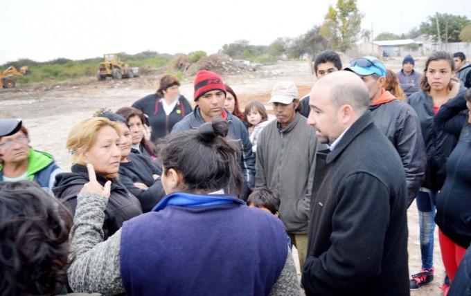El municipio desmontó y erradicó un basural en el barrio Central Argentino