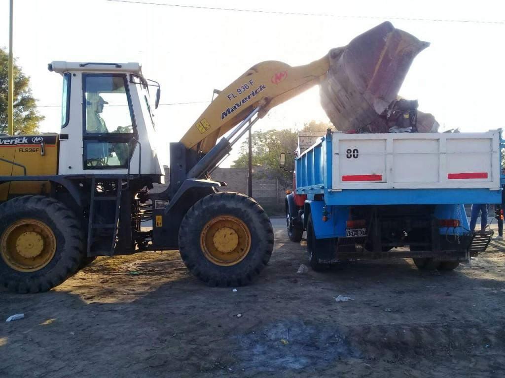 El municipio cumplió con pedidos de limpieza en barrios Dorrego, Villa Suaya y Jardín