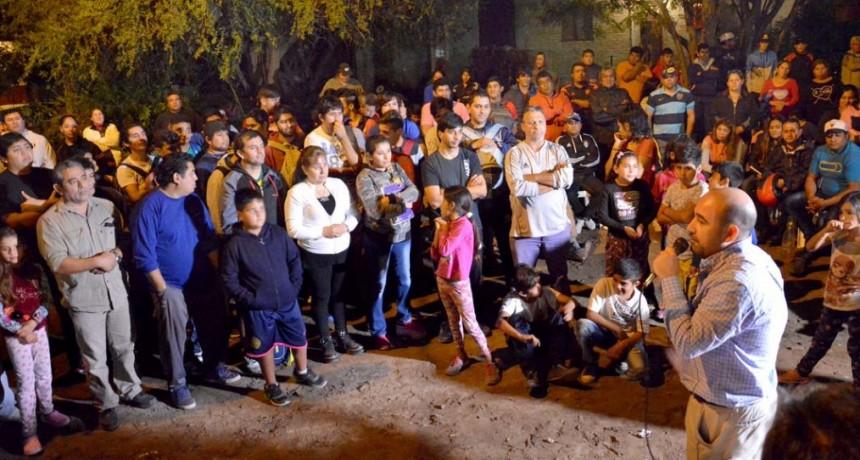 El intendente Mirolo recorrió cuatro barrios para conocer las inquietudes de los vecinos y llevar soluciones