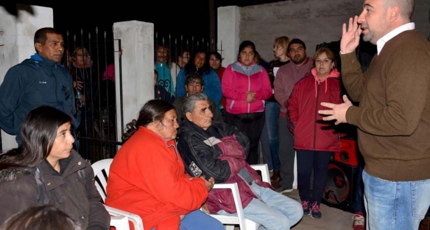 El intendente Mirolo planificó la ejecución mejoras solicitadas por los vecinos en tres barrios
