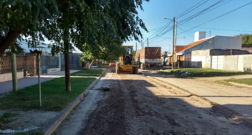 Obras Públicas municipal ejecutó bacheo, perfilado, nivelación y mantenimiento de desagües
