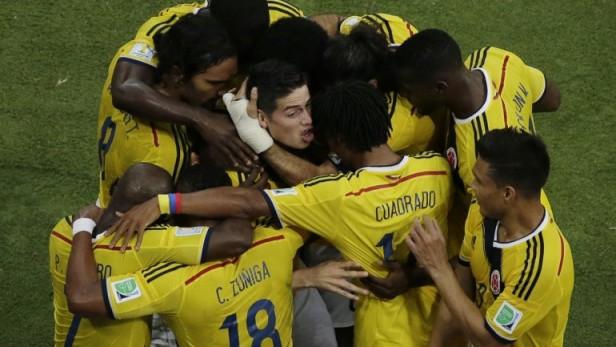 Colombia venció a Uruguay y obtuvo una histórica clasificación a cuartos de final