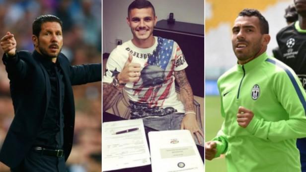 Icardi renovó en Inter pero está en la lista de Simeone, que también quiere a Tevez