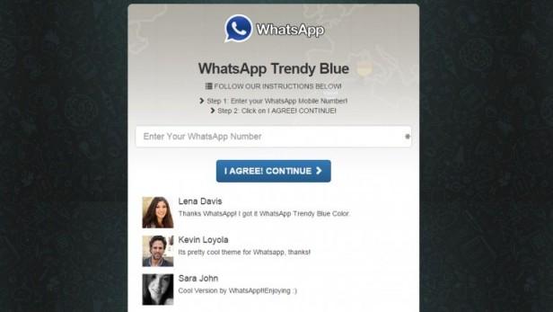 WhatsApp azul, una nueva trampa para desprevenidos