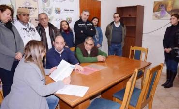 El municipio concretó la donación de un terreno a Simuba