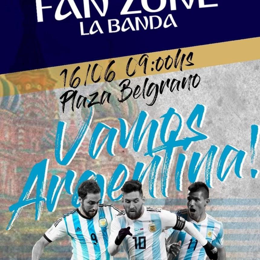 """La Plaza Belgrano se convertirá en el """"Fan Zone Mundialista"""" donde los bandeños podrán alentar a la Argentina"""