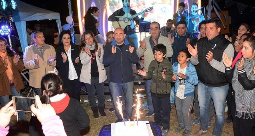 Mirolo encabezó los festejos en el barrio 1° de Mayo por sus 31 años a lo grande