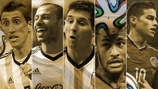 Messi, Neymar y James compiten por el Balón de Oro del Mundial