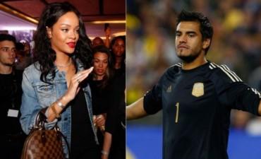 Rihanna arribó a Río de Janeiro... ¿para conocer al futbolista  Sergio Romero?