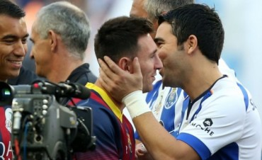 Lionel Messi volvió al fútbol en la despedida del portugués Deco