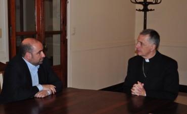 Pablo Mirolo se reunió con Monseñor Torrado Mosconi