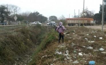 Importante despliegue de limpieza en el barrio Tabla Redonda