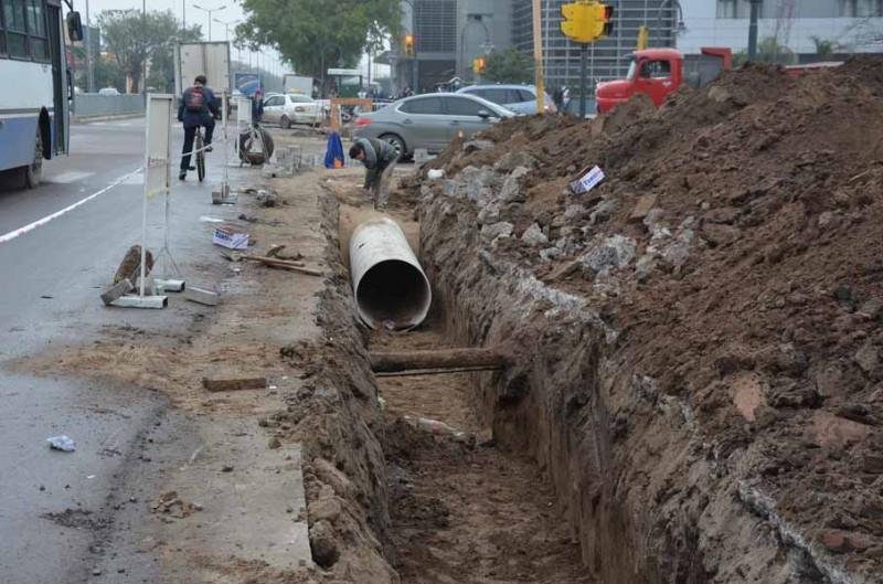 La comuna avanza con las obras de desagüe en la ciudad