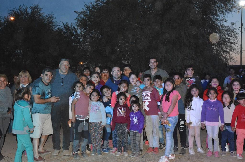 Mirolo compartió con los vecinos del barrio Gorrini de una jornada recreativa y solidaria