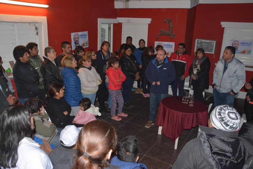 Los vecinos del barrio El Paraíso 300 Viviendas ratificaron su apoyo a la fórmula Mirolo-Nediani