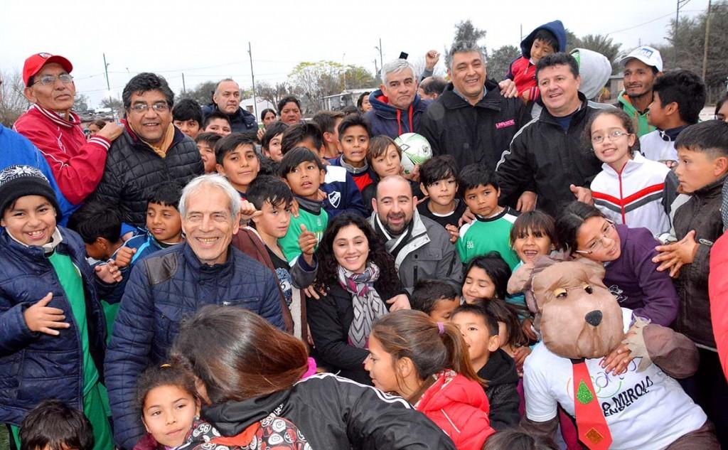 """Mirolo lanzó """"Bandeñitos"""", el torneo de fútbol infantil de vacaciones"""