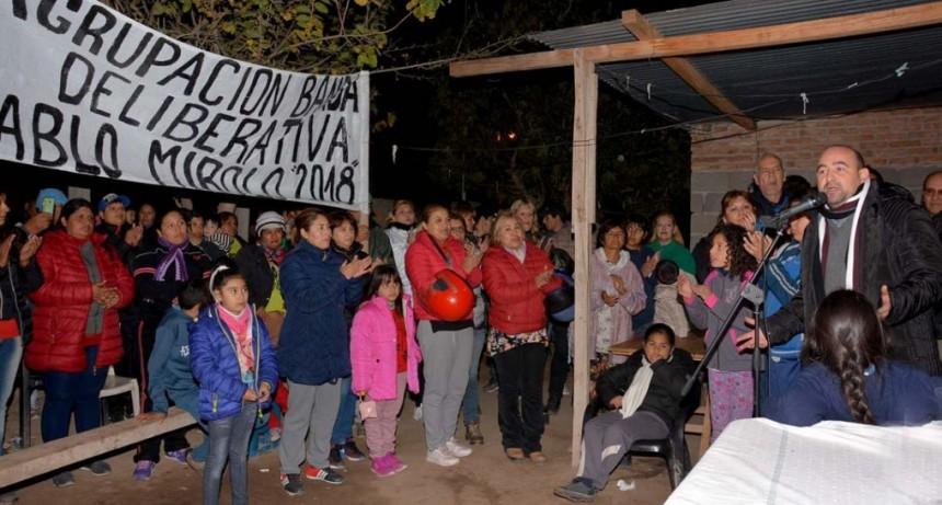El intendente Mirolo inauguró la extensión de red de agua para más de 80 familias en el barrio IV Centenario II