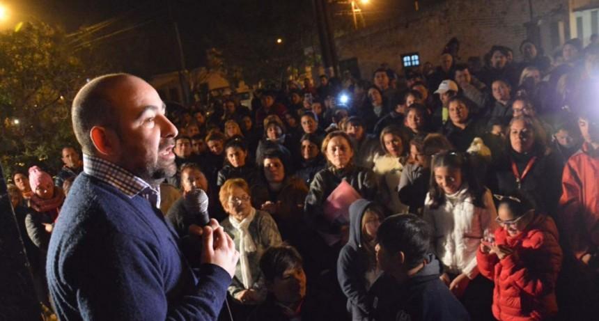 Mirolo y Nediani recibieron el apoyo de los vecinos en Villa Unión y Villa Griselda