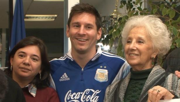 Messi también se emocionó con la aparición del nieto de Carlotto